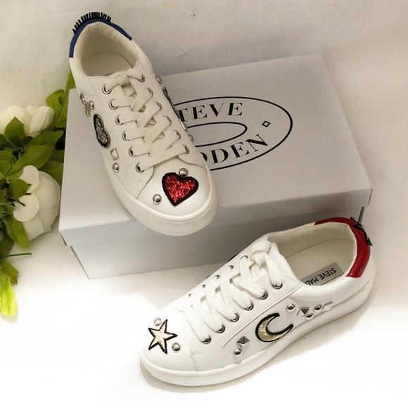 abf02d7decc Steve Madden Bette white sneakers